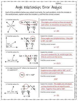 33 Angle Relationships Worksheet Answers - Loquebrota Worksheet