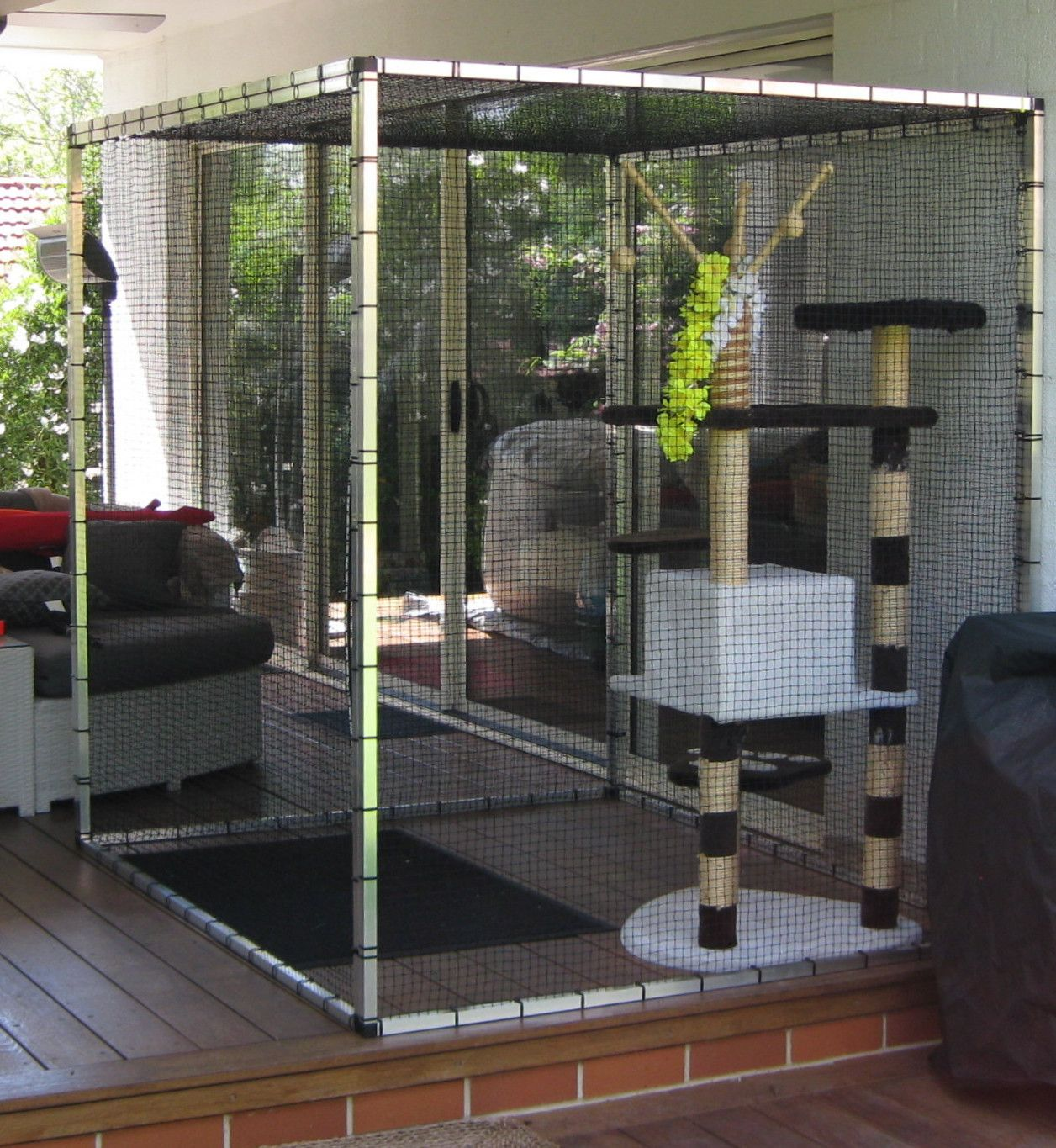 Captivating Cat Stuff Cat Enclosures  Cats Love Vertical Space, So Our Enclosures Only  Use A Small Area Of You Patio.