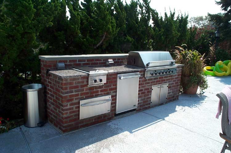 Another Nice Brick Outdoor Kitchen Area Without A Sink Outdoor Kitchen Outdoor Bbq Outdoor Fireplace
