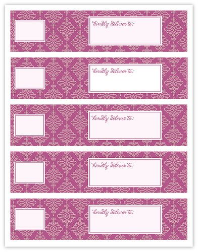 wrap around envelope labels...love these! (free printable on site)