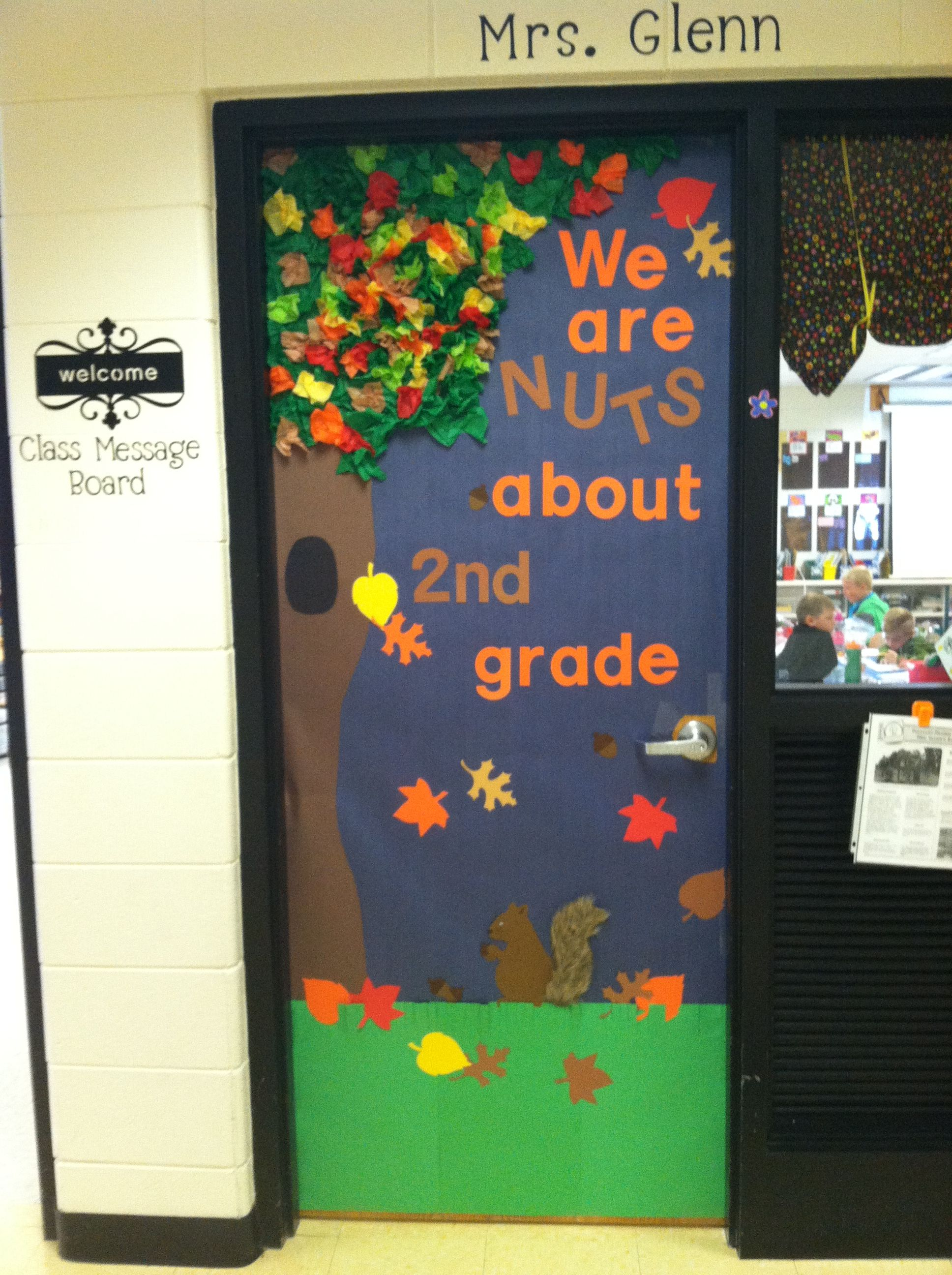 Fall classroom door my creations pinterest fall for Autumn classroom door decoration ideas