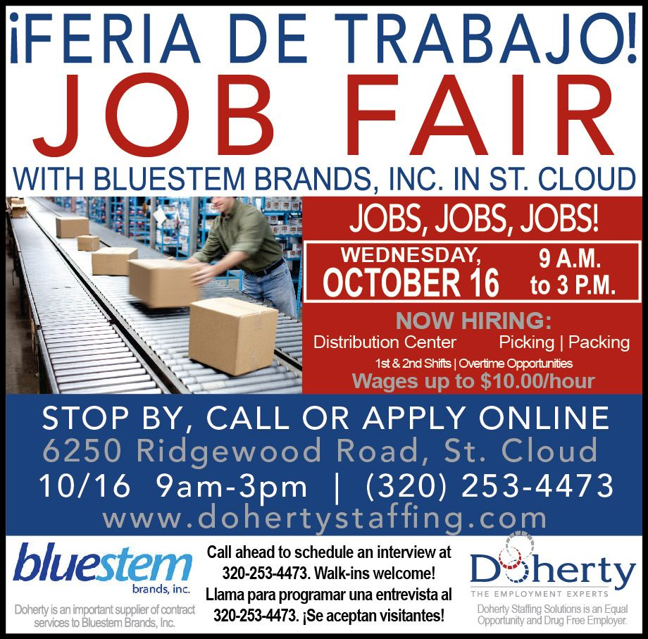 doherty job fair wednesday 16 in st cloud for bluestem doherty job fair wednesday 16 in st cloud for bluestem picking