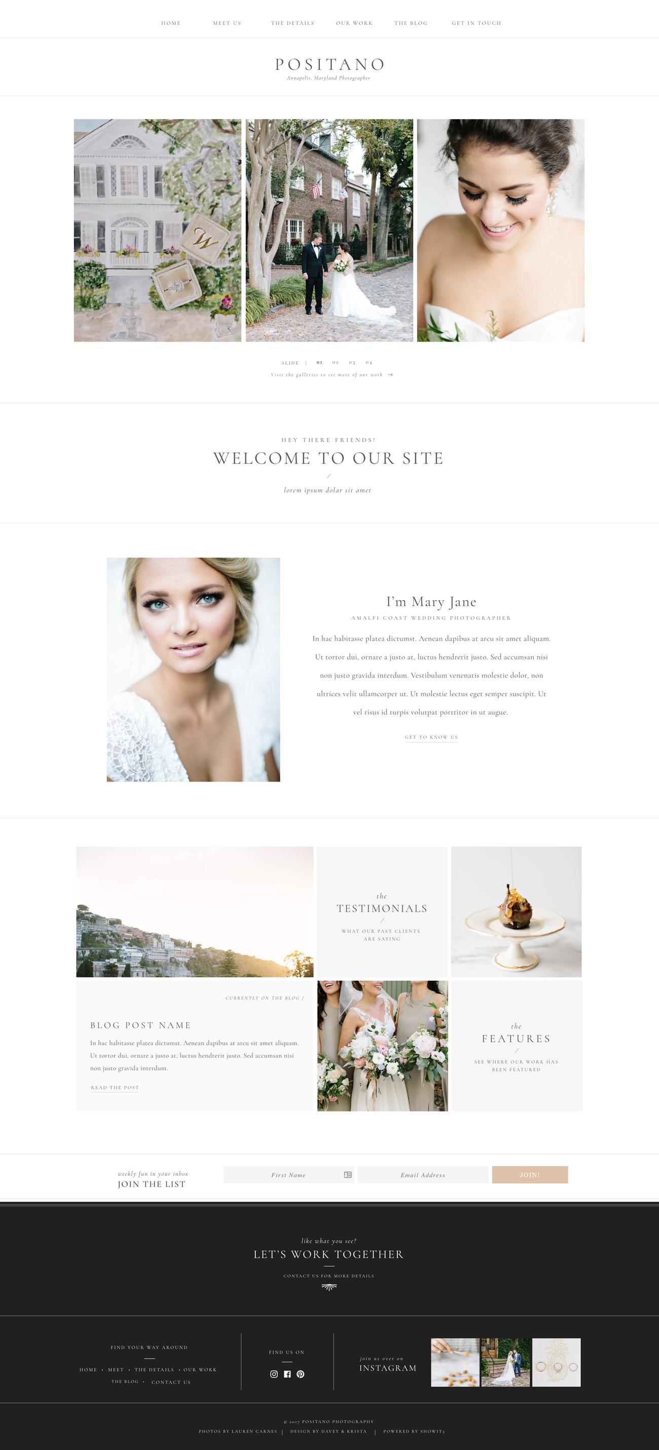 Positano Showit Davey Krista Wedding Planner Website Wedding Website Design Web Design Tips