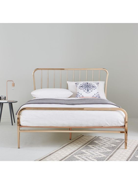 webster metal double bed frame with mattress options verycouk - Bed Frame With Mattress