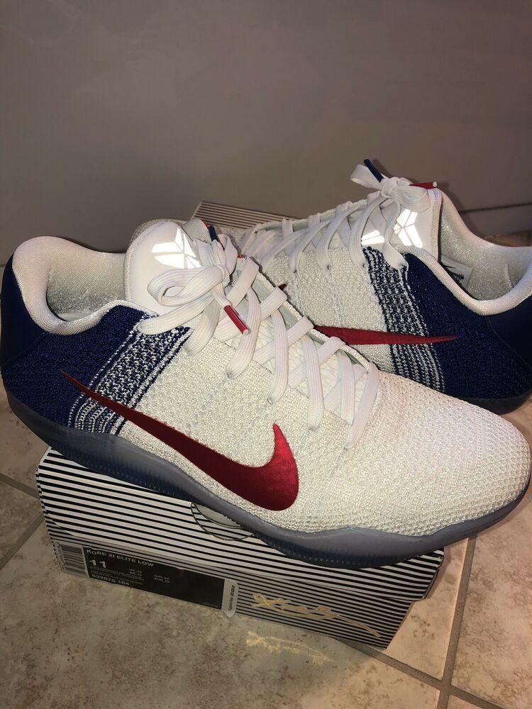 new style 91d2d 65f24 (eBay Sponsored) Nike Kobe 11 XI Elite Low Sz 11 USA July 4th Independence