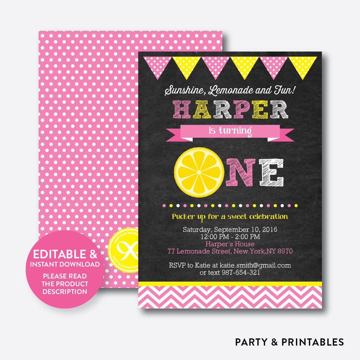 Pink Lemonade Cha... http://partyandprintables.com/products/pink-lemonade-chalkboard-kids-birthday-invitation-editable-instant-download-ckb-63?utm_campaign=social_autopilot&utm_source=pin&utm_medium=pin #partyprintables #birthdayinvitation #partysupplies #partydecor #kidsbirthday #babyshower