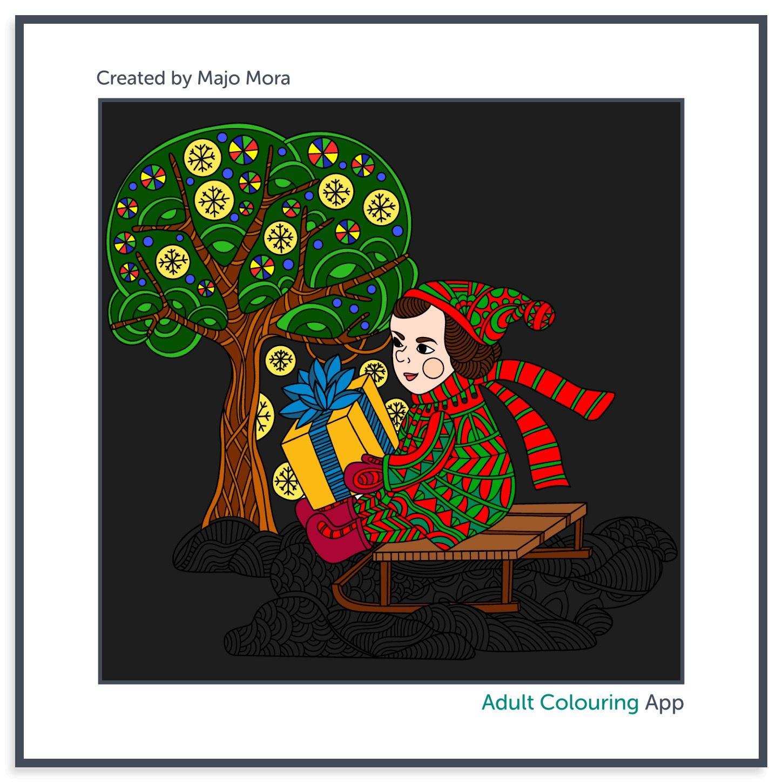 adultcoloringapp coloreando coloring Feliz Navidad