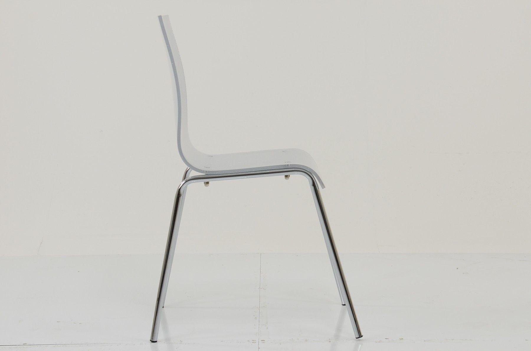Ava Gel Acrylic Dining Chair Silver