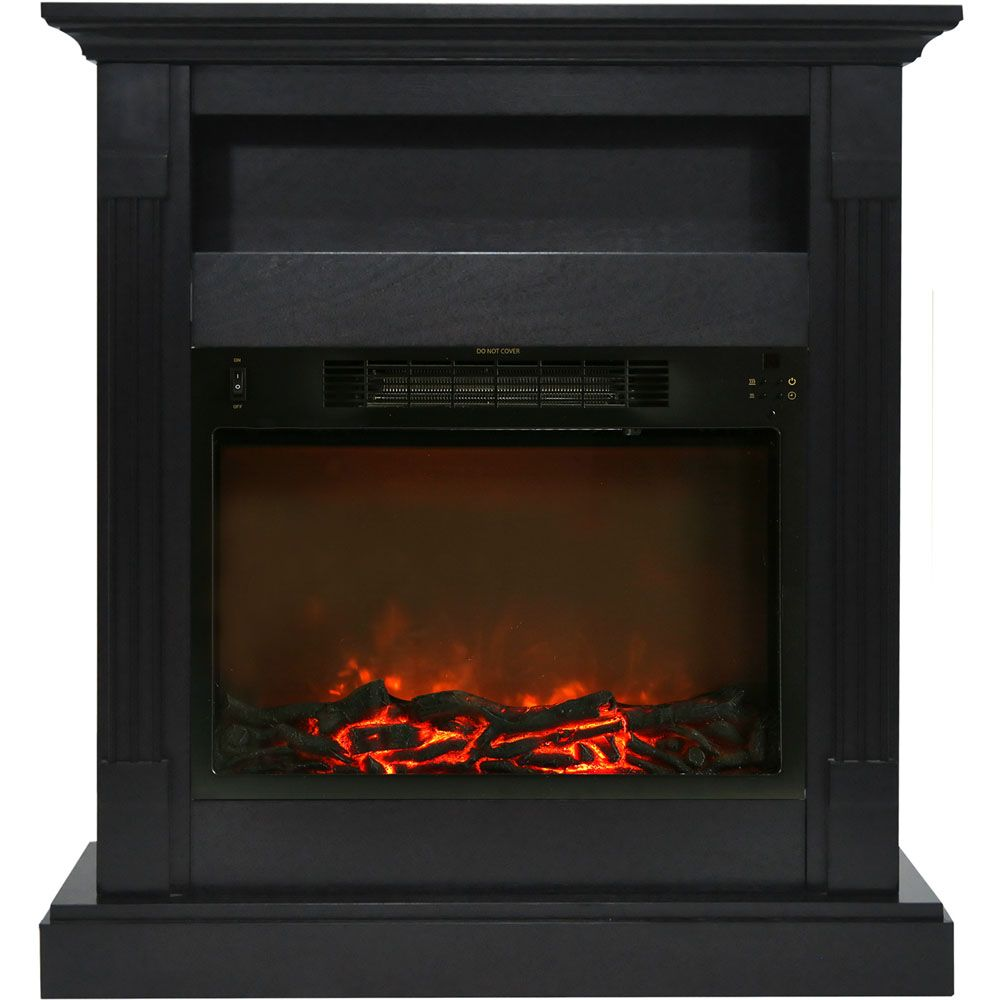Cambridge Sienna 34 In Electric Fireplace W 1500w Log Insert And