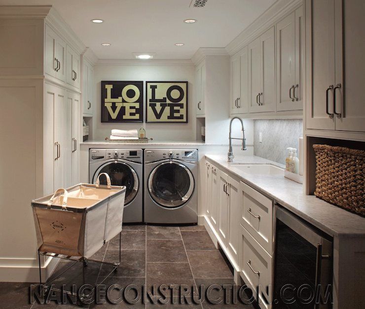 Kitchen Utility Room Layout: Wine Fridge In Laundry Room... Genius When You Don't Have
