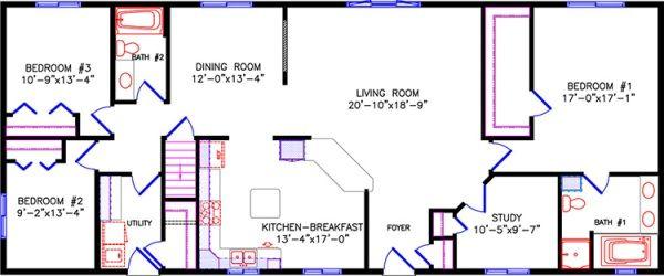 Ranch Floor Plans Ranch Ranch House Floor Plans Rectangle