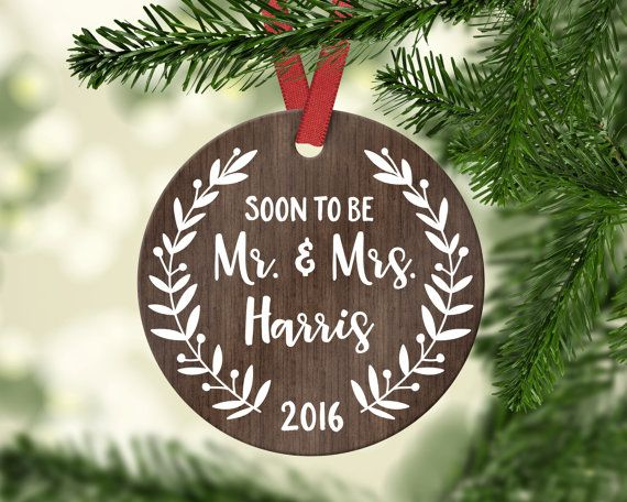 Engagement Ornament Engagement Gift First Christmas Engaged Ornament