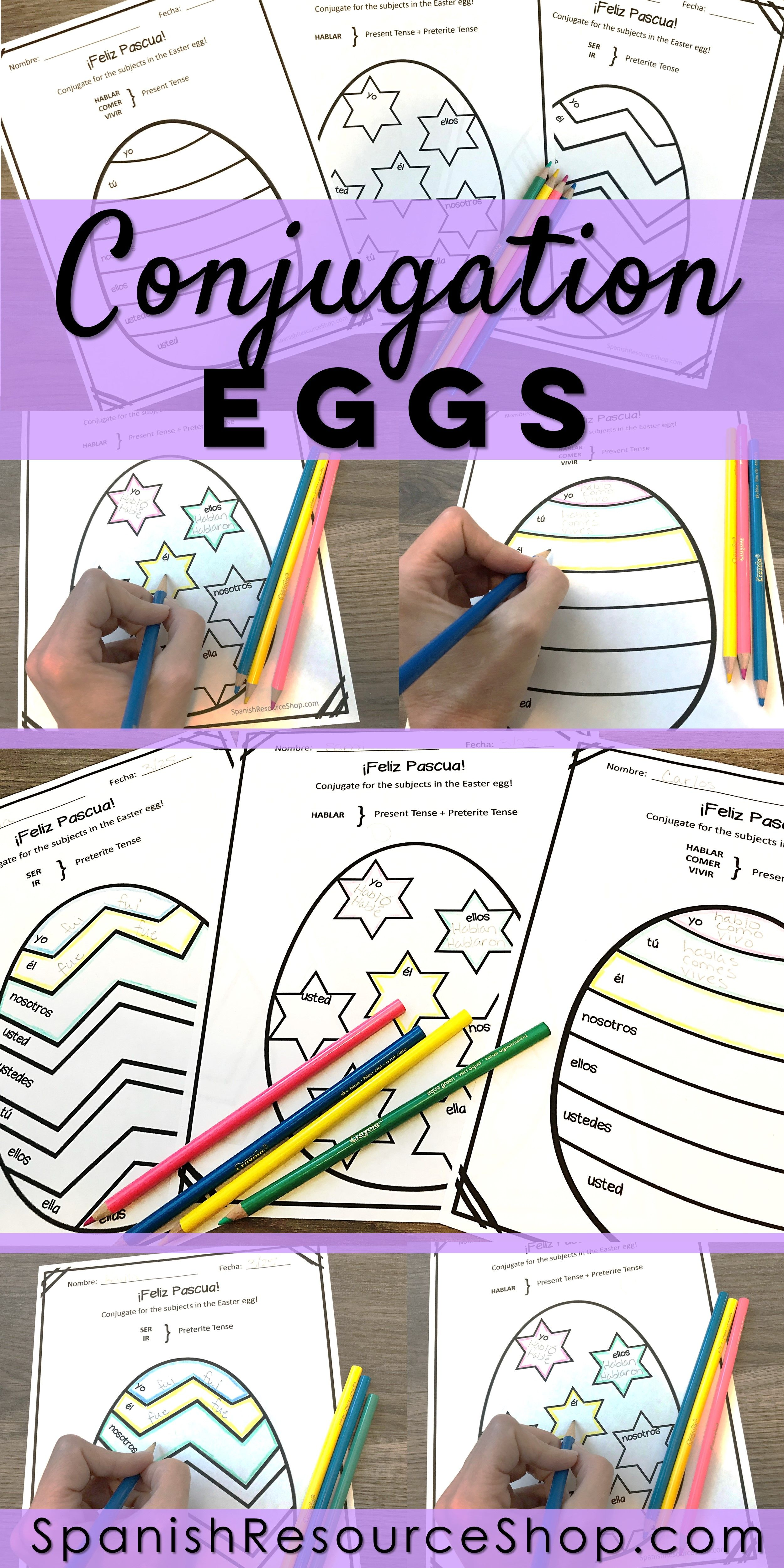 Spanish Easter Conjugation Eggs With Images