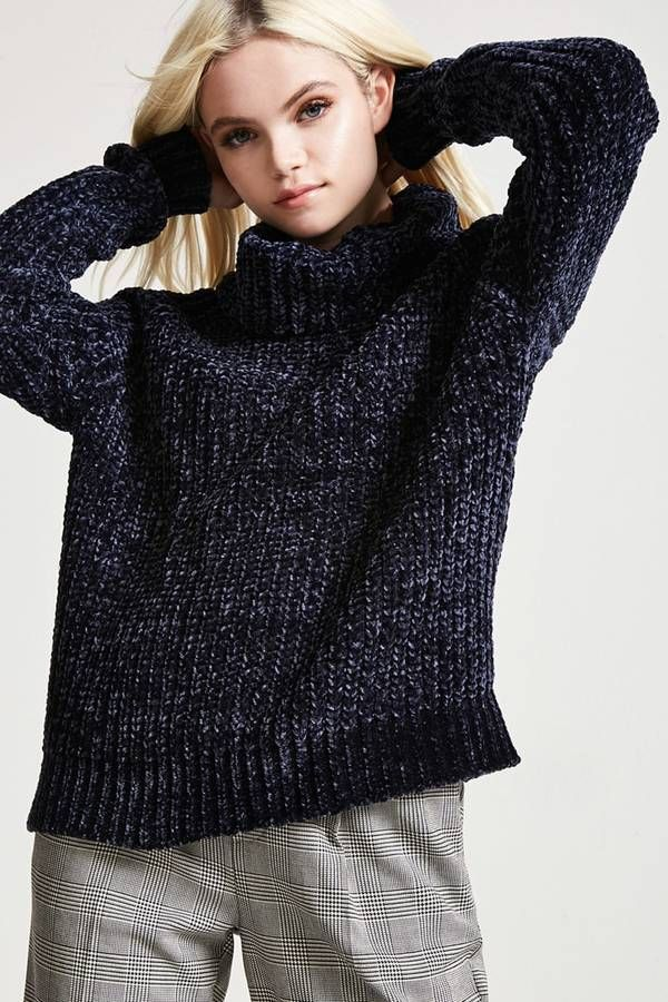 $22.90 FOREVER 21 Chenille Turtleneck Sweater. Warm & So