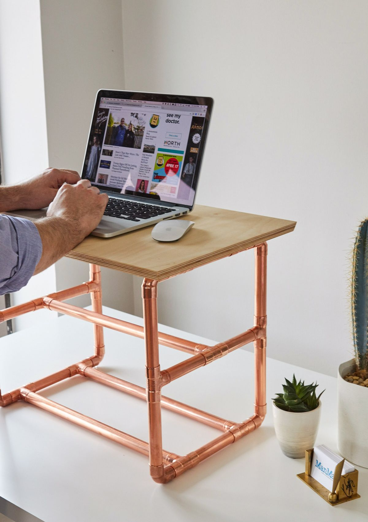 How To Make A Stylish Standing Desk Riser Diy Home