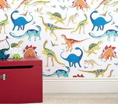 Dinosaur Peel Stick Wallpaper Pottery Barn Kids Bedrooms Peel And Stick Wallpaper Dinosaur Wallpaper