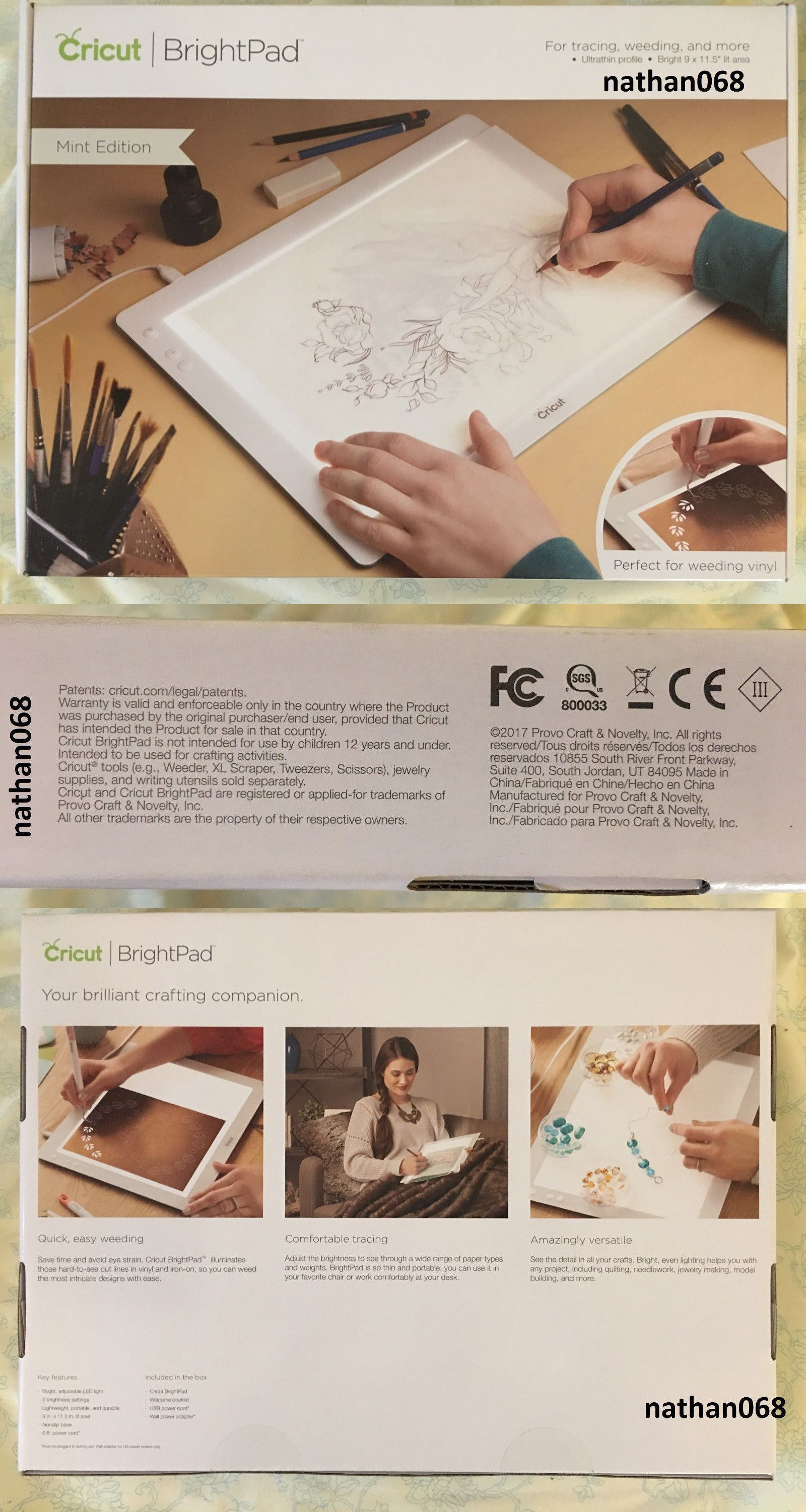 Scrapbooking And Paper Crafts 11788 New Cricut Bright Pad With Adjustable Led Light Free Shipping Buy It Now Only Cricut Paper Crafts Cricut Brightpad