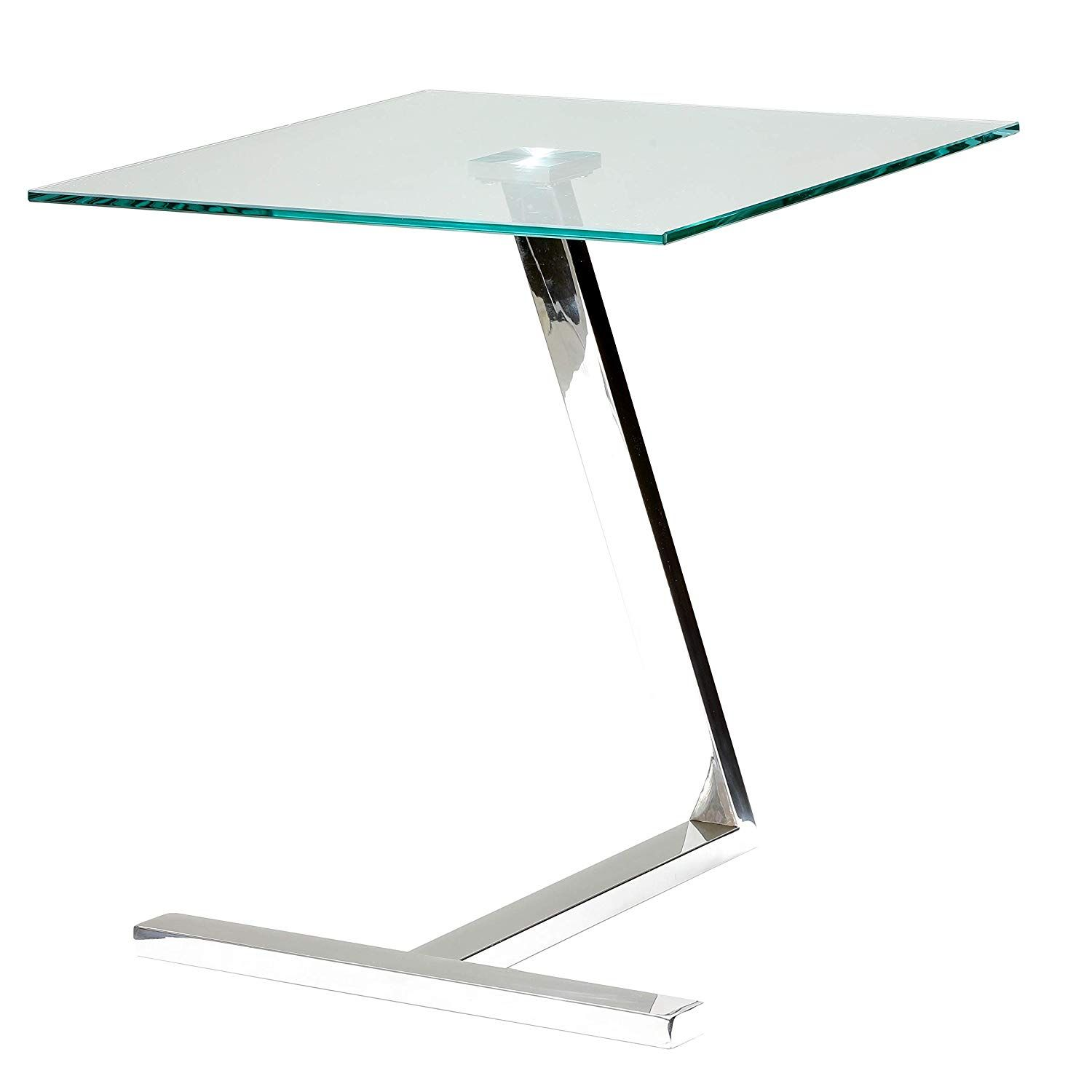 Cortesi Home Ch Et636713 Zee Square Glass End Table 18x18x20