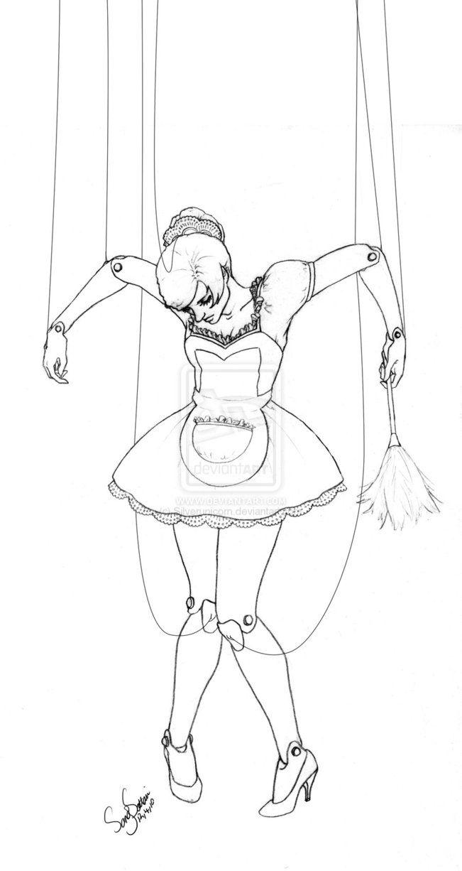 Рисунок театральной куклы