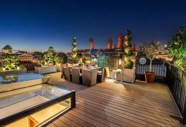 The Subtle, Calm Lighting On This Roof Terrace Make It