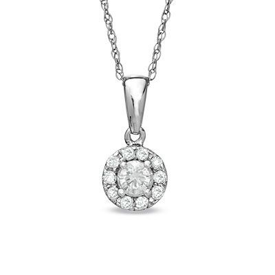 Fine Jewelry 1/4 CT. T.W. Diamond 10K Yellow Gold Pear-Shaped Cluster Pendant Necklace 3UwKphD9Yq