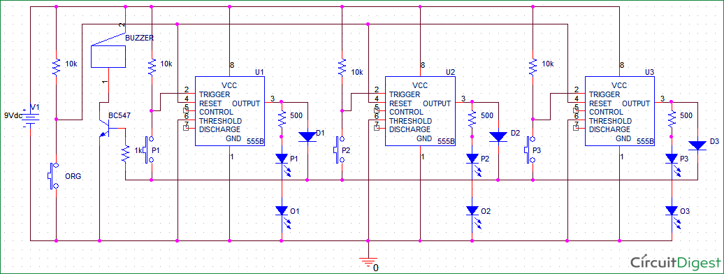 circuit diagram for quiz buzzer using 555 timer ic electronic rh pinterest com circuit diagram quizlet circuit diagram for quiz buzzers