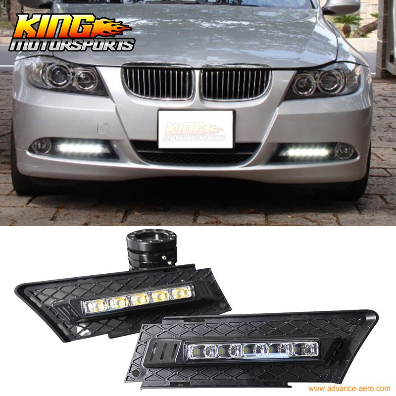 Fit For 05 08 Bmw E90 3 Series 4door Drl Daytime Driving Light Led Fog Light Lamp Kit Usa Domestic Free Shipping Hot Selling Bmw Car Lights Led Lights