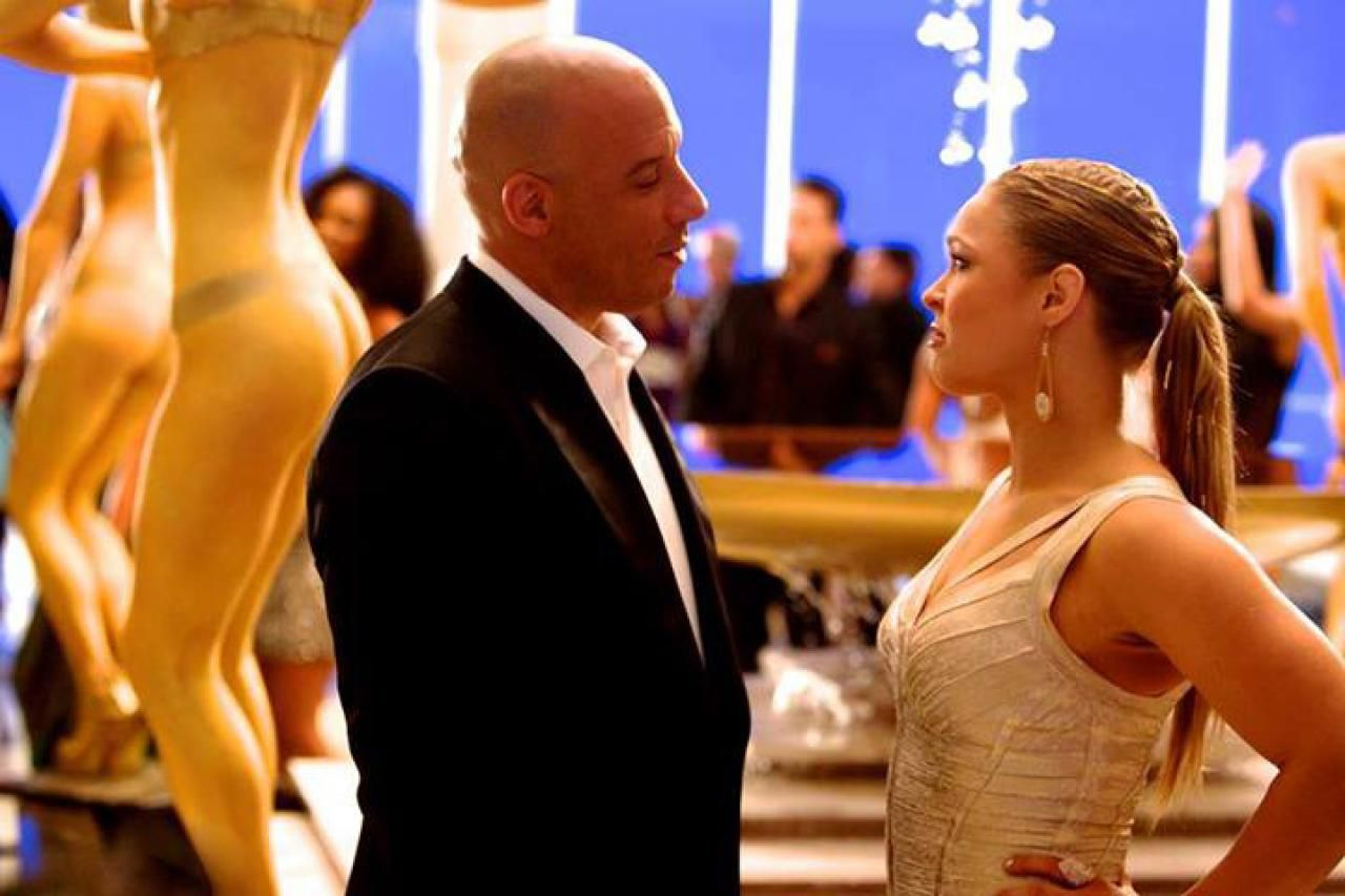 Fast and furious 7 set photo vin diesel with ronda rousey