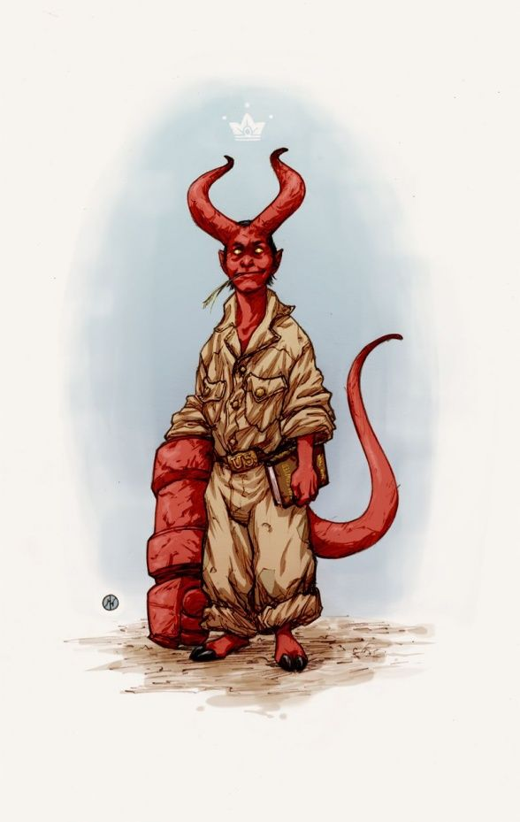 #Hellboy #Fan #Art. (Hellboy) By: Ricardo Venâncio. (THE * 5 * STÅR * ÅWARD * OF: * AW YEAH, IT'S MAJOR ÅWESOMENESS!!!™) ÅÅÅ+