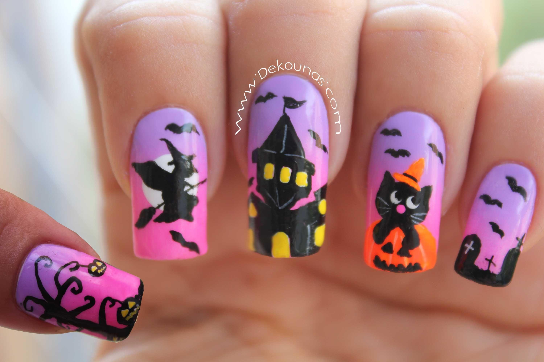 Decoración de uñas halloween - Halloween nail art | Ongles Halloween ...
