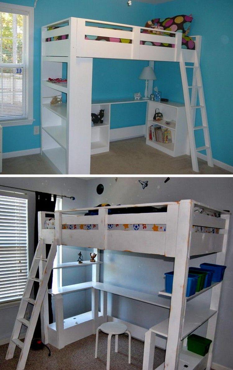Homemade loft bed ideas   Exciting DIY Kids Bunk Bed Ideas kidsbedroom
