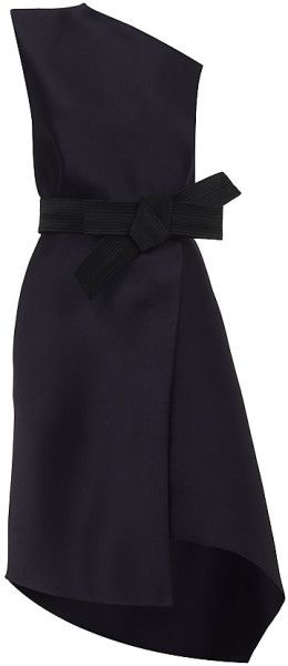 405bc26880b228 Lanvin Purple Duchess Satin Belted Dress