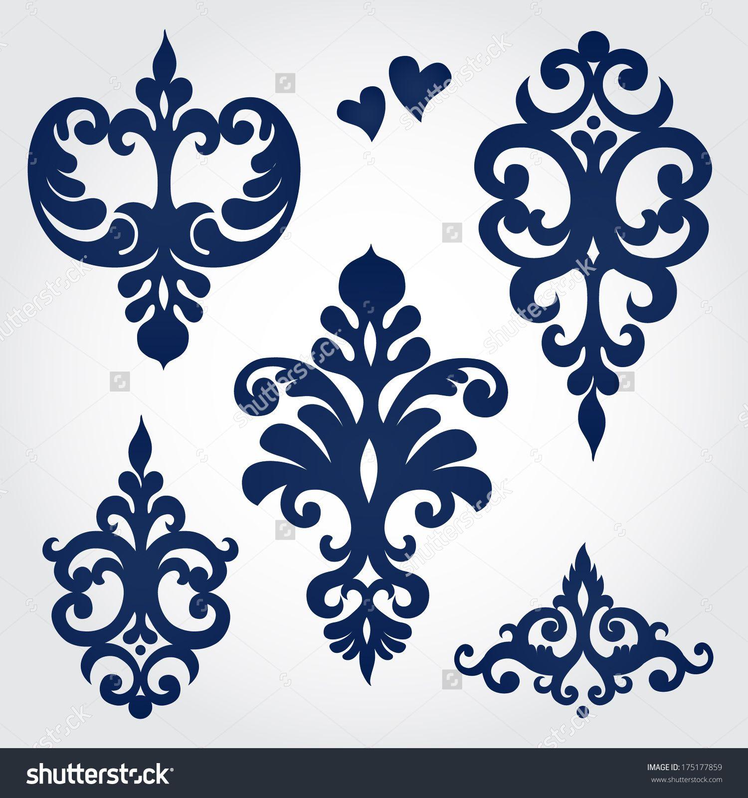 Vector set with baroque ornaments in victorian style ornate vector set with baroque ornaments in victorian style ornate element for design it can doublecrazyfo Gallery