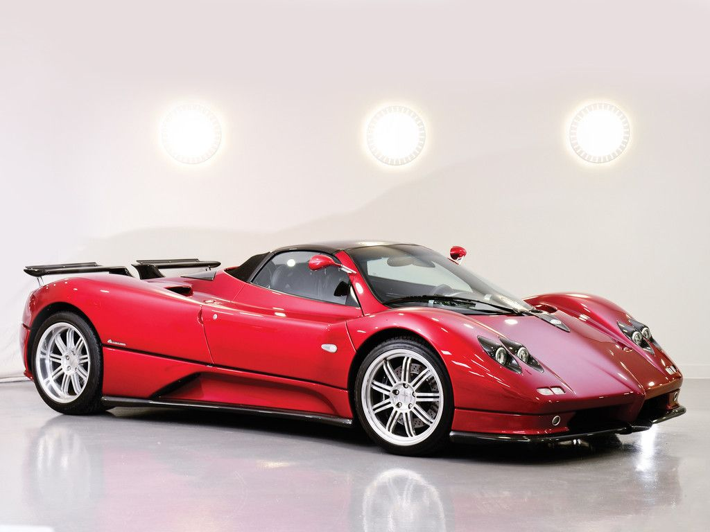 Superbe Pagani Zonda C12, Roadster, Red Sports Car Wallpaper