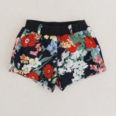 Rose Blue Garden Shorts
