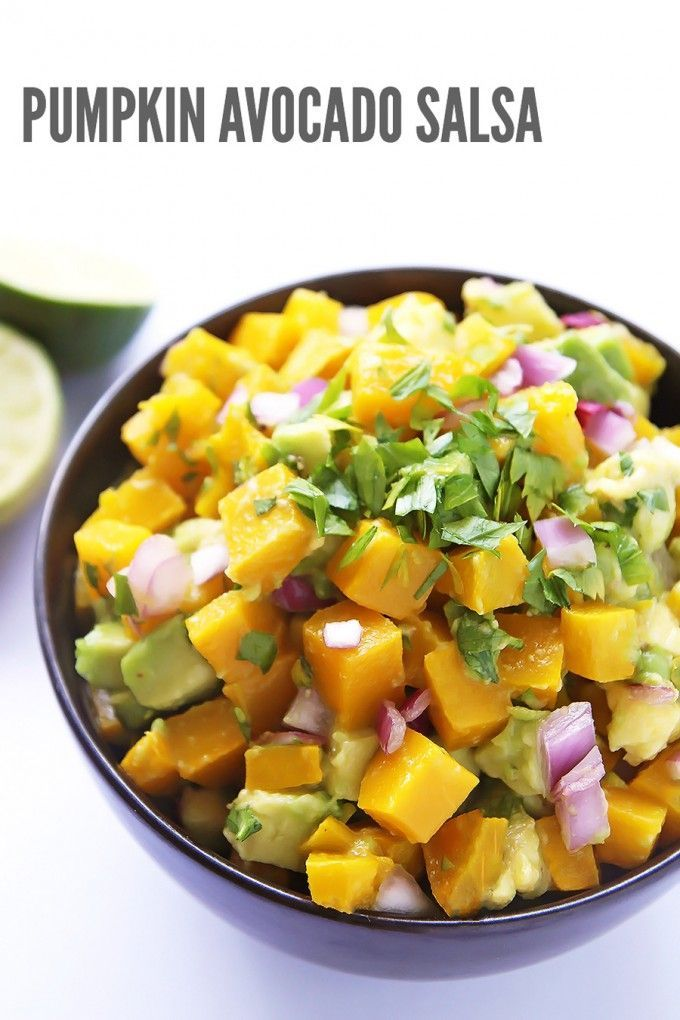 Pumpkin Avocado Salsa is a refreshing seasonal twist on the classic dip and  condiment. With roasted pumpkin and creamy avocado this salsa is great  served ... 07bf52a51883