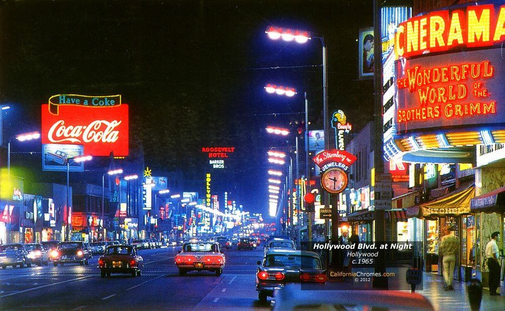 Hollywood Boulevard, 1970's (With images) Images of