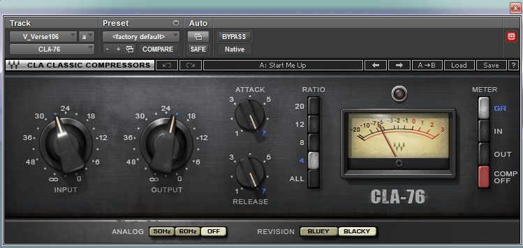 Waves CLA-76 - one of my favorite compressors for the job