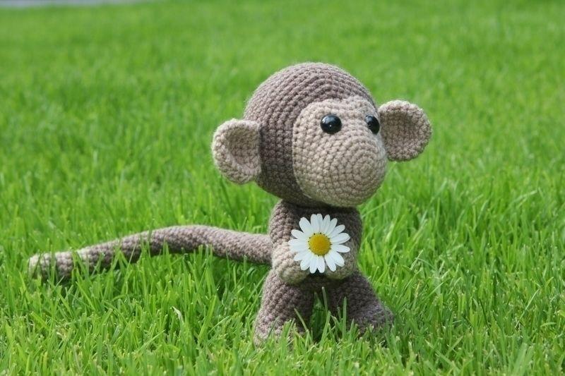 Häkelanleitung süßer Affe Chimp - Häkelanleitungen bei Makerist