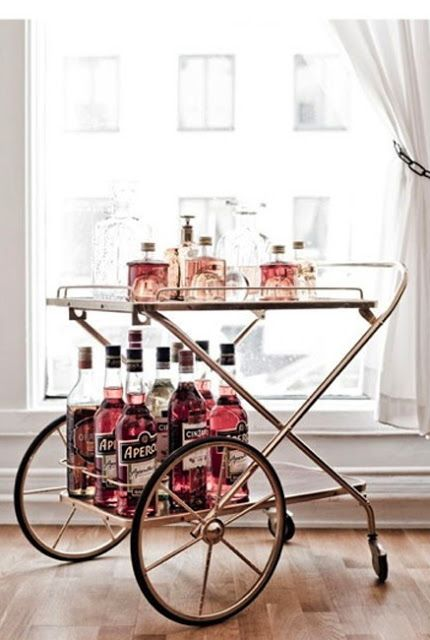 Vintage and mid-century drinks trolleys for a refreshing Valentine's Day!