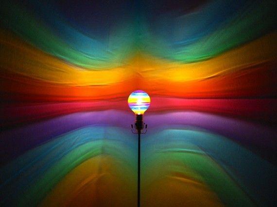 Rainbow Decor For Colorful Bedrooms Colored Light Bulbs Rainbow Painting Night Light Kids