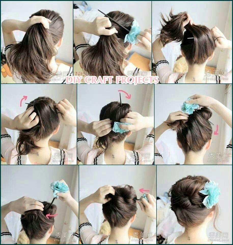 Hairstyle good ideas pinterest bun hairstyle twist bun and
