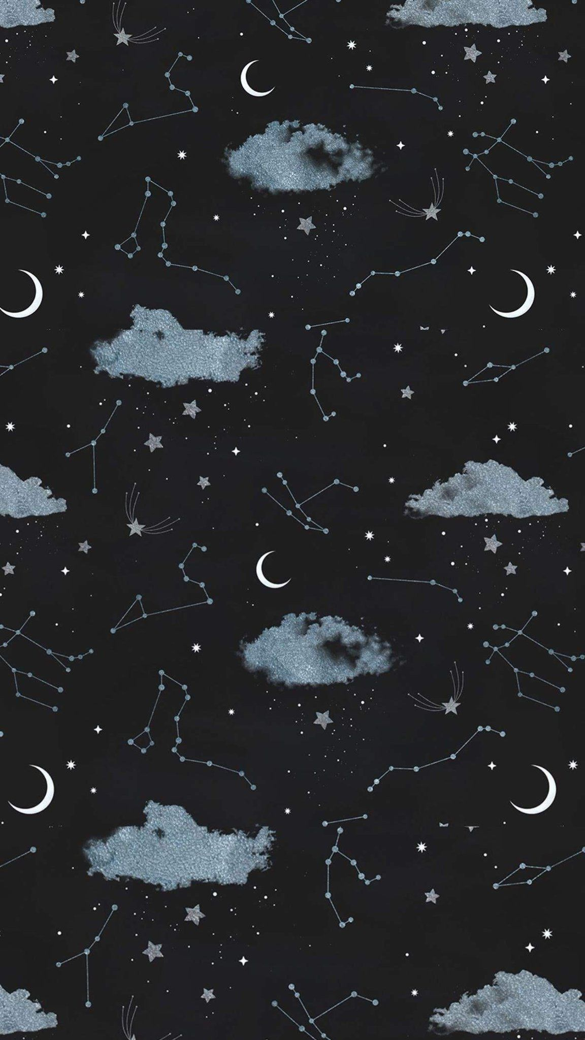 Pinterest Luiselacroix In 2020 Moon And Stars Wallpaper