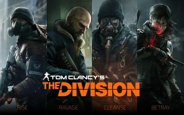 Rise, ravage, cleanse, betray. Division Games, Xbox 360, Playstation,