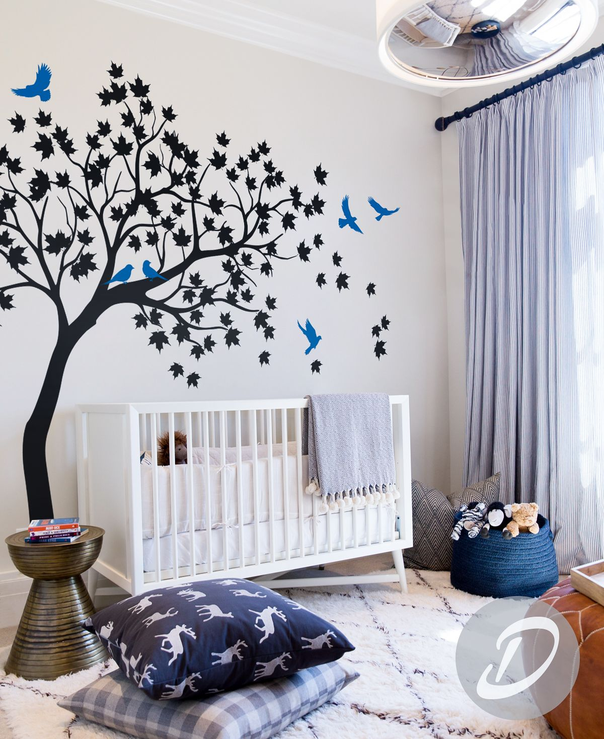 Elegance In Your Room / Black Tree Wall Decal #tree #decal #bluebirds # Part 86