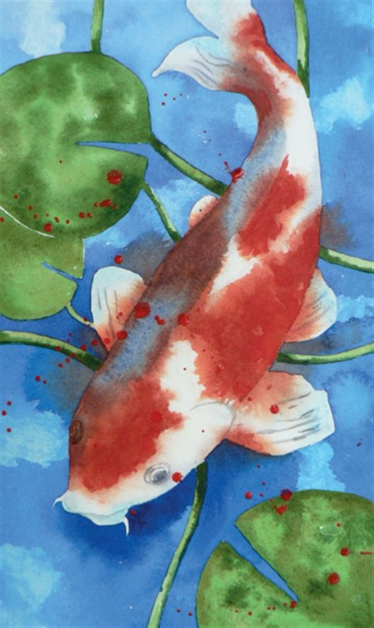 How To Paint Koi Carp In Watercolour Practice Your Wet In Wet