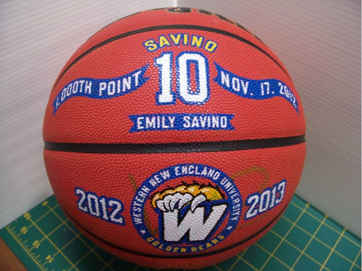 Hand Painted Basketball For 1000 Point Women S Basketball Player Hand Painted Basketballs Make Great P Basketball Gifts Sports Gifts Football And Basketball