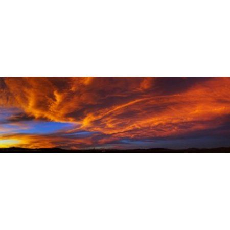 Clouds in the sky at sunset Taos Taos County New Mexico USA Canvas Art - Panoramic Images (18 x 6)