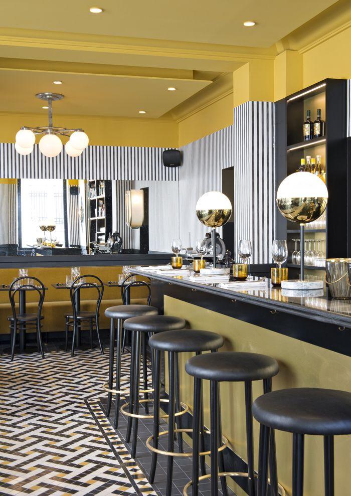 Epoca, un bistrot italien style Art déco | int design | Bar ...