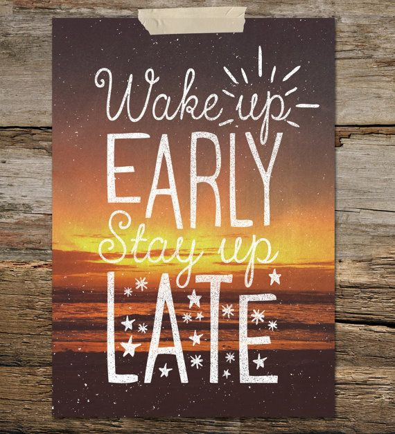 Stay Up Late a4 downloadable print by thecabinsupplyco on Etsy